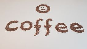 Texto dos feijões de café Imagem de Stock Royalty Free