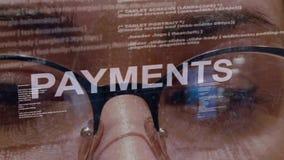 Texto dos pagamentos no programador de software fêmea filme