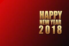 Texto dourado do ano novo feliz 2018 Imagens de Stock