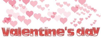 Texto e corações Fotos de Stock