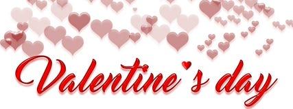 Texto e corações Imagem de Stock