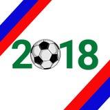 2018 texto e futebol Foto de Stock