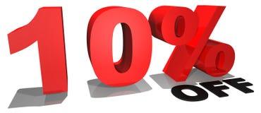 Texto el 10% de la promoción de venta apagado imágenes de archivo libres de regalías