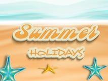 Texto elegante de vacaciones de verano ilustración del vector