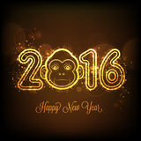 Texto elegante 2016 para la celebración del Año Nuevo Imagen de archivo libre de regalías