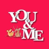 Texto elegante para la celebración del día de tarjeta del día de San Valentín Imagenes de archivo