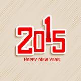 Texto elegante para las celebraciones de la Feliz Año Nuevo 2015 Imágenes de archivo libres de regalías