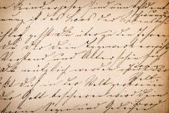 Texto escrito à mão abstrato indeterminado velho Backgroun de papel da textura Fotografia de Stock