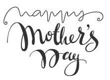 Texto escrito à mão da caligrafia do dia feliz dos moters para o cartão Foto de Stock Royalty Free