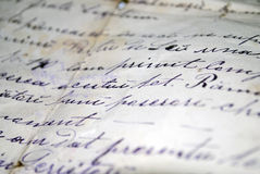 Texto escrito da mão Foto de Stock