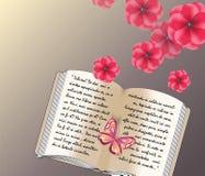 Texto escrito do amor em um diário Ilustração Royalty Free