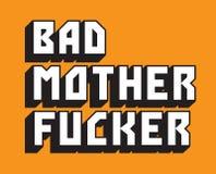 Texto feito sob encomenda mau do vetor do Fucker de mãe ilustração stock