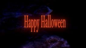Texto feliz da animação de Dia das Bruxas video estoque