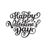 Texto feliz da rotulação do dia do ` do Valentim Imagem de Stock Royalty Free