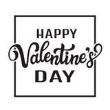 Texto feliz da rotulação do dia do ` do Valentim Imagens de Stock Royalty Free