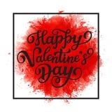 Texto feliz da rotulação do dia do ` do Valentim Fotografia de Stock