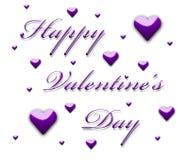 Texto feliz del día de tarjeta del día de San Valentín 3d Imagen de archivo libre de regalías
