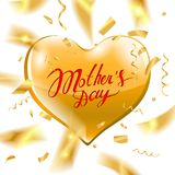 Texto feliz del día del ` s de la madre Fotografía de archivo libre de regalías