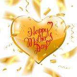 Texto feliz del día del ` s de la madre Foto de archivo libre de regalías
