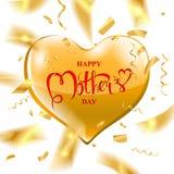 Texto feliz del día del ` s de la madre Imágenes de archivo libres de regalías