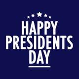 Texto feliz do dia dos presidentes ilustração do vetor