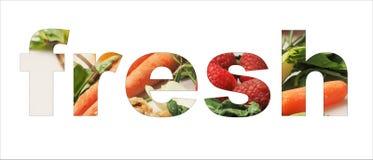 Texto fresco com vegatables Imagem de Stock Royalty Free