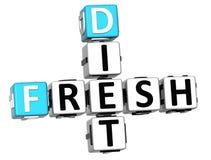 texto fresco das palavras cruzadas da dieta 3D Imagem de Stock