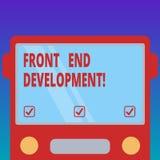 Texto Front End Development da escrita Significado do conceito que altera dados à relação gráfica para que o usuário ver a parte  ilustração royalty free