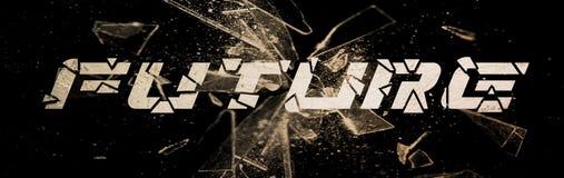 Texto futuro de cristal del metal de Barcking Libre Illustration