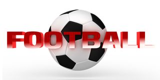 texto GamesThree-dimensional video del rojo del fútbol 3D Imagenes de archivo