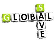 texto global das palavras cruzadas das economias 3D Fotografia de Stock