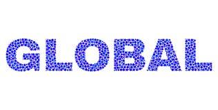 Texto GLOBAL en Dot Style stock de ilustración