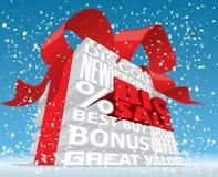 Texto grande da venda 3d do inverno Fotografia de Stock