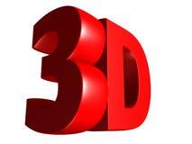Texto grande del rojo 3D Foto de archivo libre de regalías