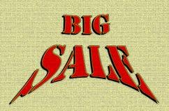 Texto grande do vermelho da oferta da venda Ilustração Royalty Free
