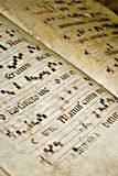 Texto gregoriano velho Foto de Stock