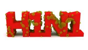 Texto H1N1 Foto de Stock