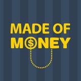 Texto hecho del dinero Imágenes de archivo libres de regalías
