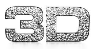 Texto impreso de la malla 3D aislado en el fondo blanco ilustración 3D Imagen de archivo