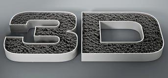 Texto impreso de la malla 3D en fondo gris ilustración 3D Fotografía de archivo libre de regalías