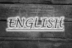 Texto inglés en fondo fotografía de archivo libre de regalías