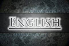 Texto inglés en fondo fotos de archivo