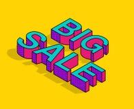 Texto isométrico da venda grande no estilo do pop art Fotos de Stock