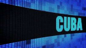 Texto lateral de CUBA que enrolla el tablero de la muestra de la pantalla de la pared del LED stock de ilustración