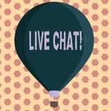 Texto Live Chat da escrita da palavra Conceito do negócio para a conversação na comunicação móvel dos multimédios do Internet ilustração stock