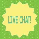 Texto Live Chat da escrita da palavra Conceito do negócio para a conversação na comunicação móvel dos multimédios do Internet ilustração royalty free