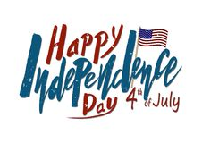Texto manuscrito para el Día de la Independencia del día de fiesta del Stat unido libre illustration