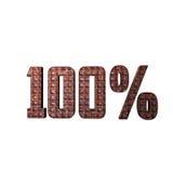 Texto metálico 3D del 100% Foto de archivo libre de regalías
