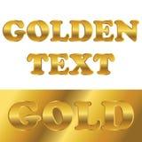 Texto metálico dourado com inclinação Fotografia de Stock Royalty Free
