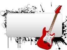 Texto-molde da guitarra Fotos de Stock